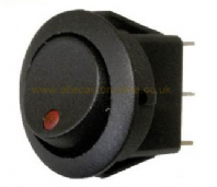 Circular Rocker switch <br>built in LED <br>ON/OFF<br>24V/12V<BR> ALT/R13-112B2R24-25